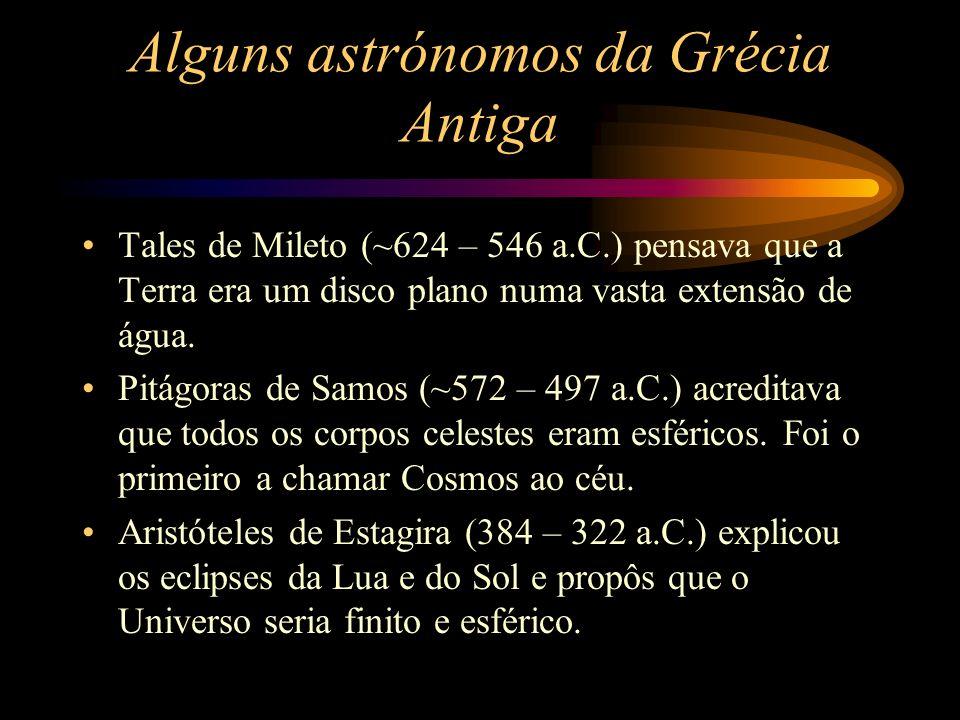 Alguns astrónomos da Grécia Antiga