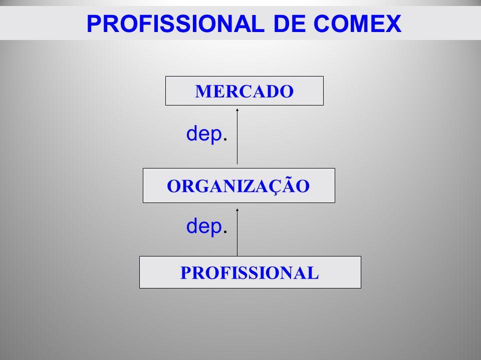 PROFISSIONAL DE COMEX dep. MERCADO ORGANIZAÇÃO PROFISSIONAL