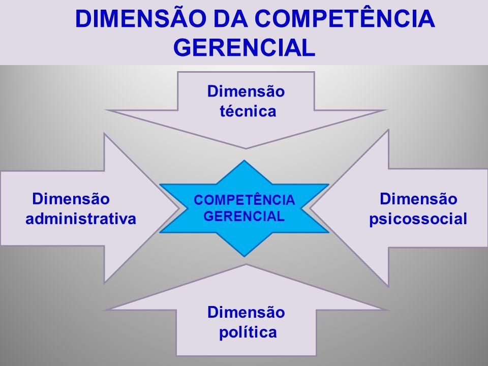 DIMENSÃO DA COMPETÊNCIA GERENCIAL