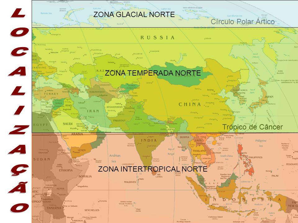 LOCALIZAÇÃO ZONA GLACIAL NORTE Círculo Polar Ártico