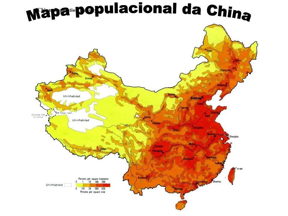 Mapa populacional da China