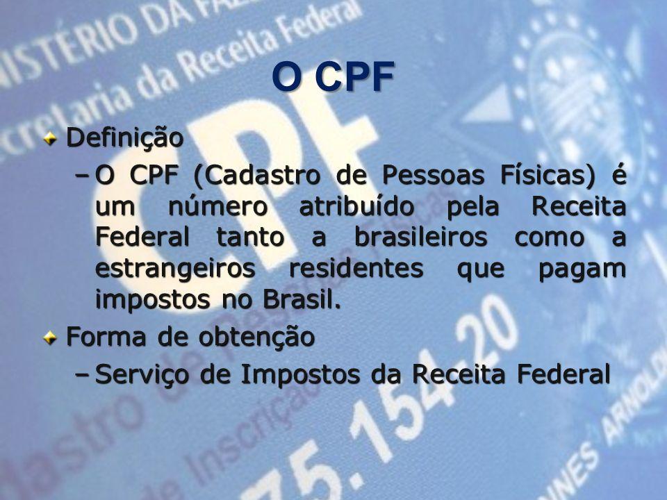 O CPFDefinição.
