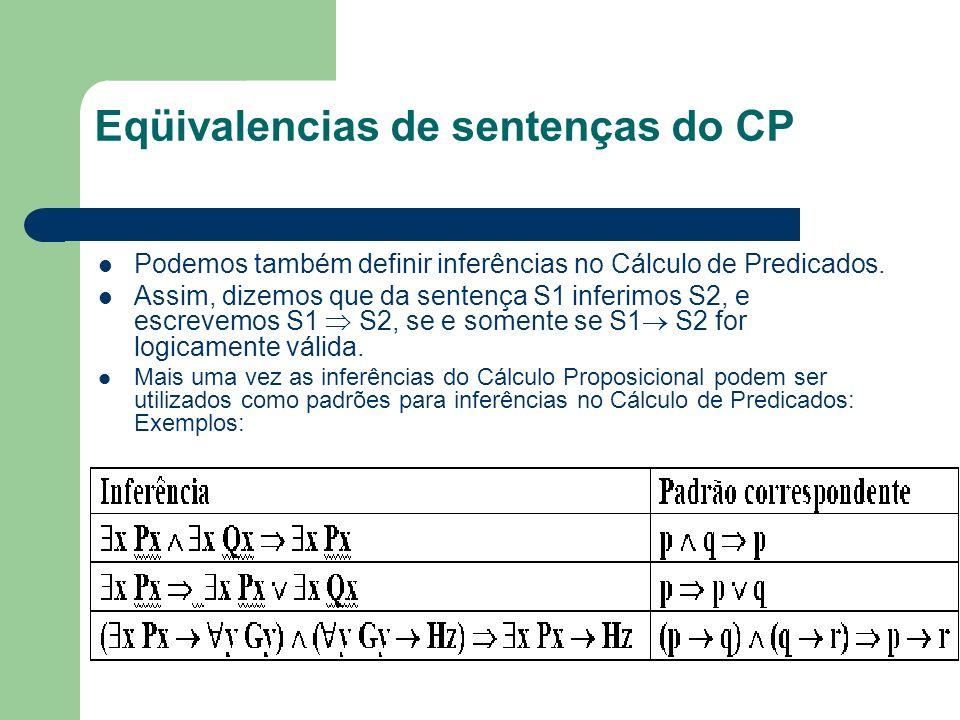 Eqüivalencias de sentenças do CP