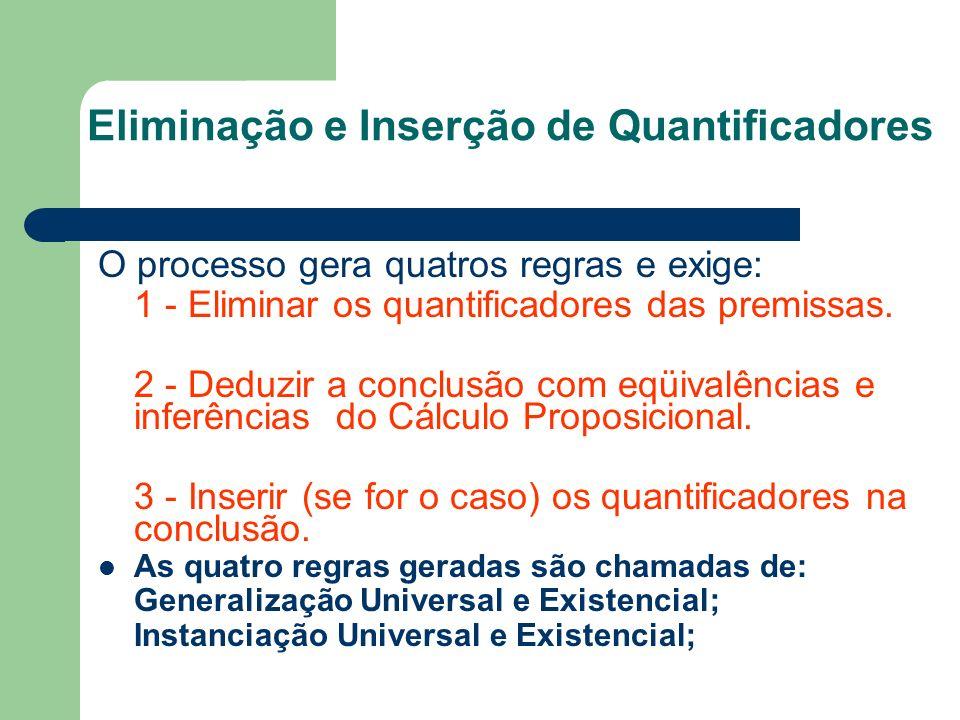 Eliminação e Inserção de Quantificadores