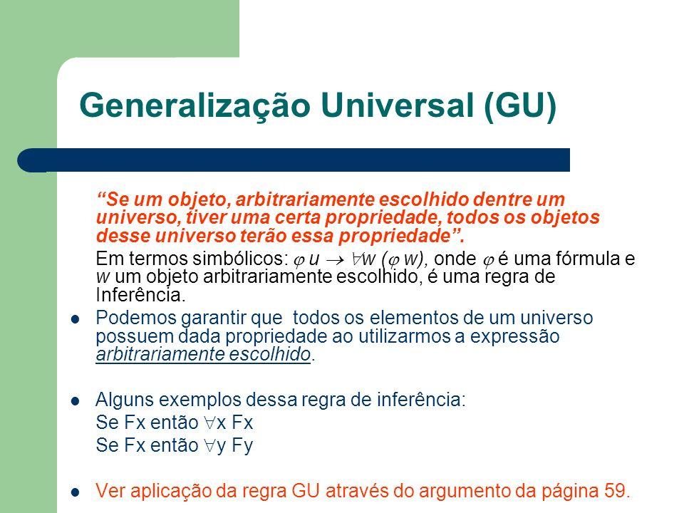 Generalização Universal (GU)