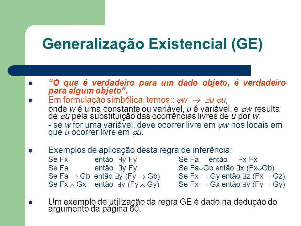 Generalização Existencial (GE)