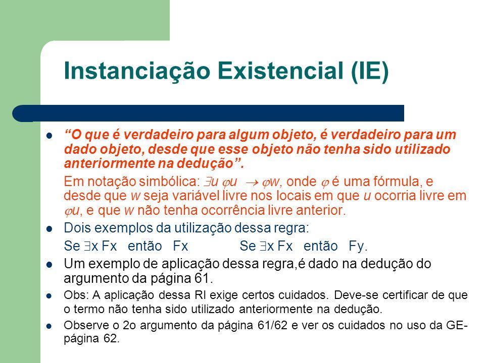 Instanciação Existencial (IE)