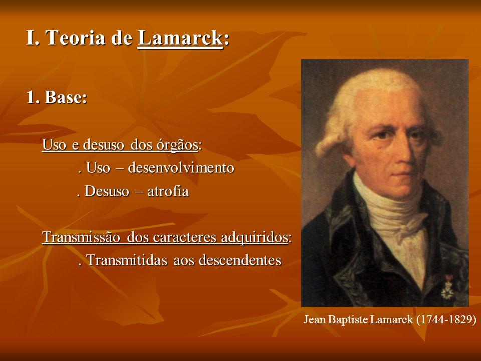 Jean Baptiste Lamarck (1744-1829)