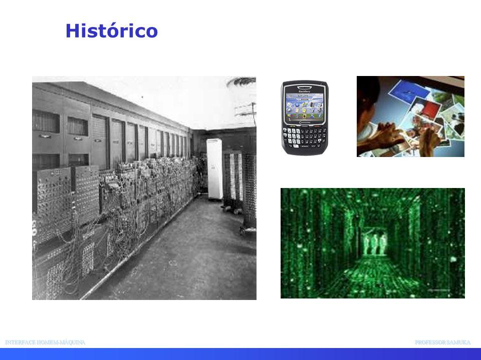 Histórico INTERFACE HOMEM-MÁQUINA PROFESSOR SAMUKA