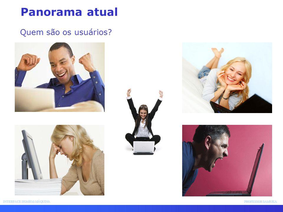 Panorama atual Quem são os usuários INTERFACE HOMEM-MÁQUINA