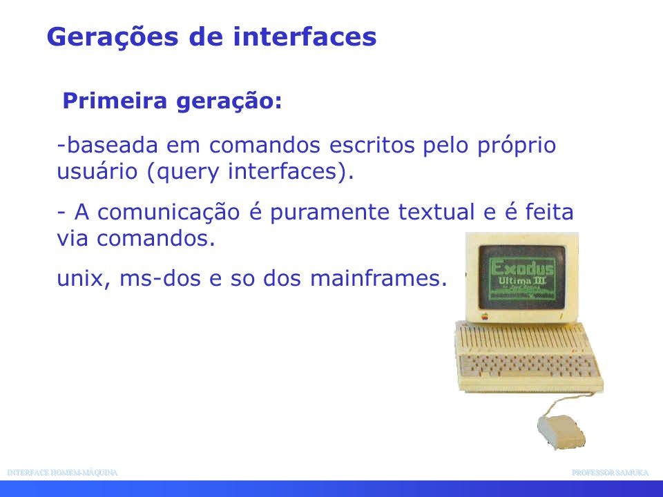 Gerações de interfaces