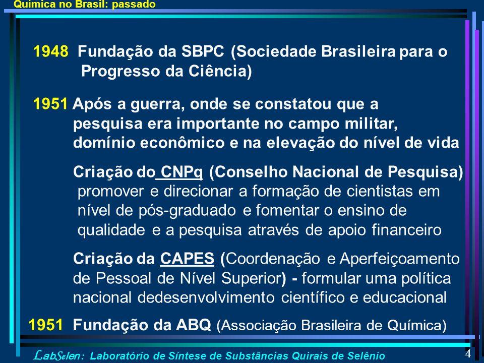 1951 Fundação da ABQ (Associação Brasileira de Química)