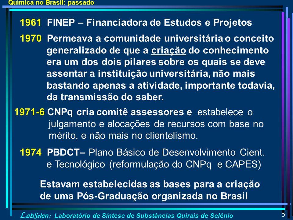 1961 FINEP – Financiadora de Estudos e Projetos
