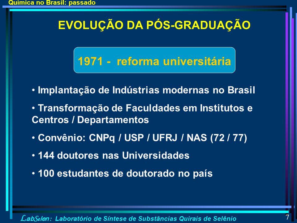 1971 - reforma universitária