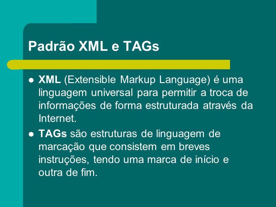 Padrão XML e TAGs