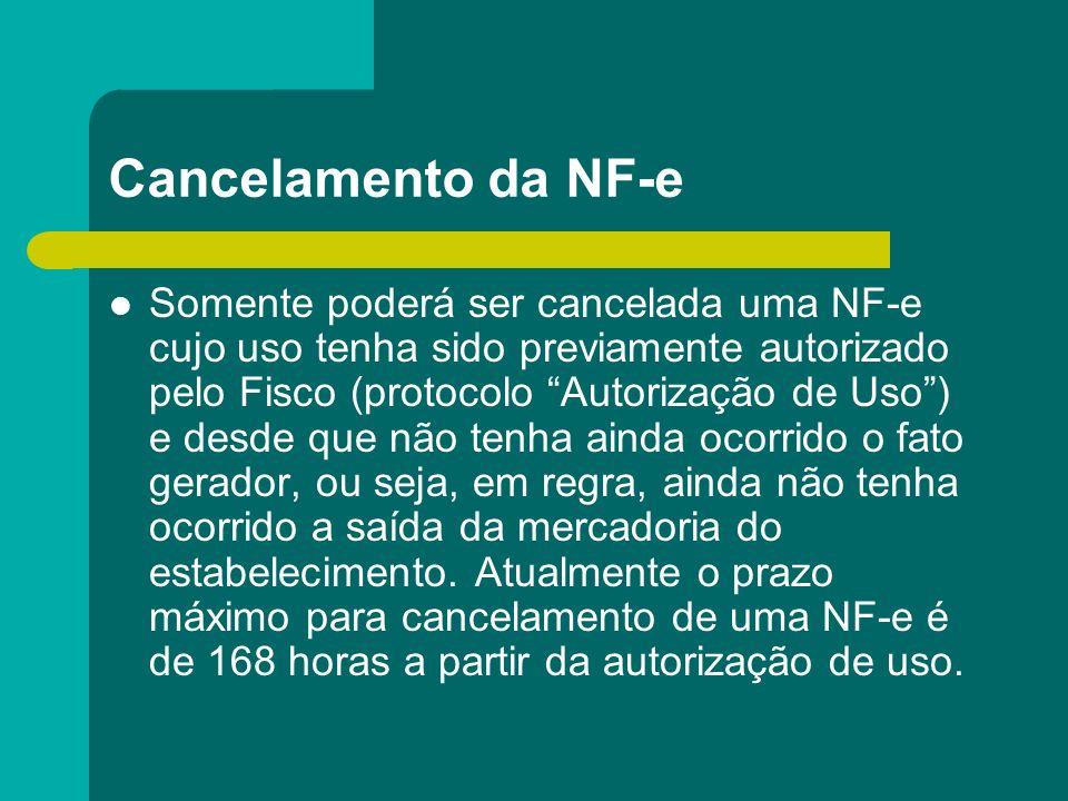 Cancelamento da NF-e