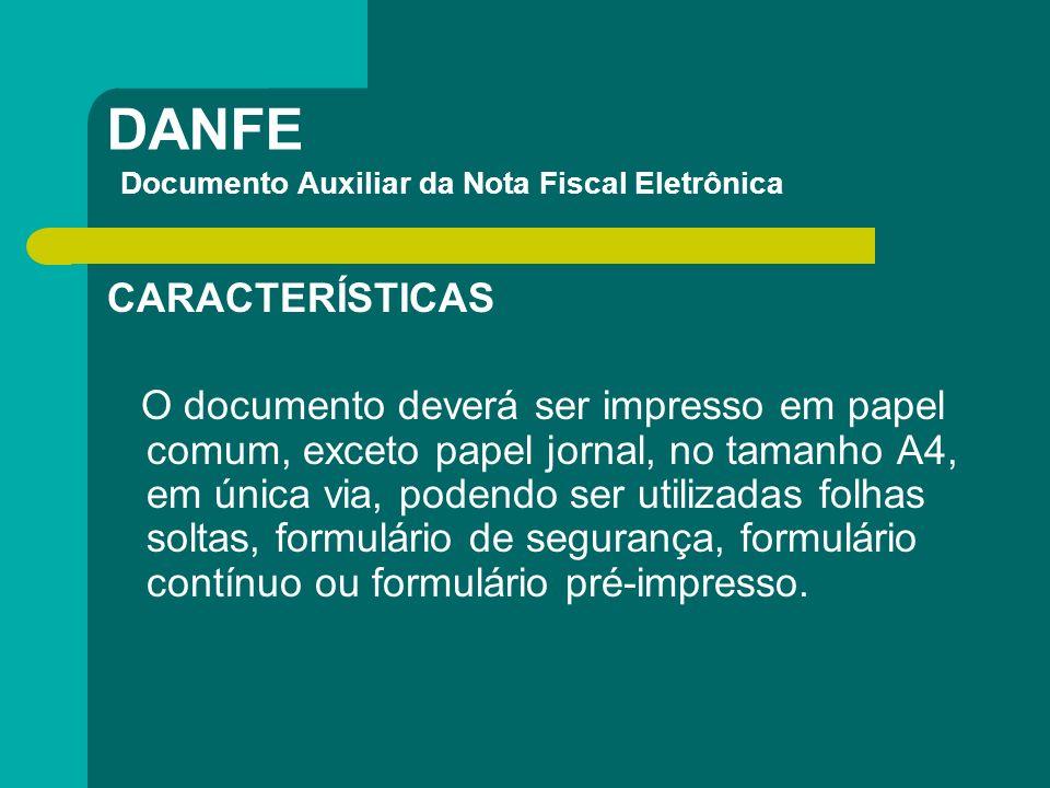 DANFE Documento Auxiliar da Nota Fiscal Eletrônica