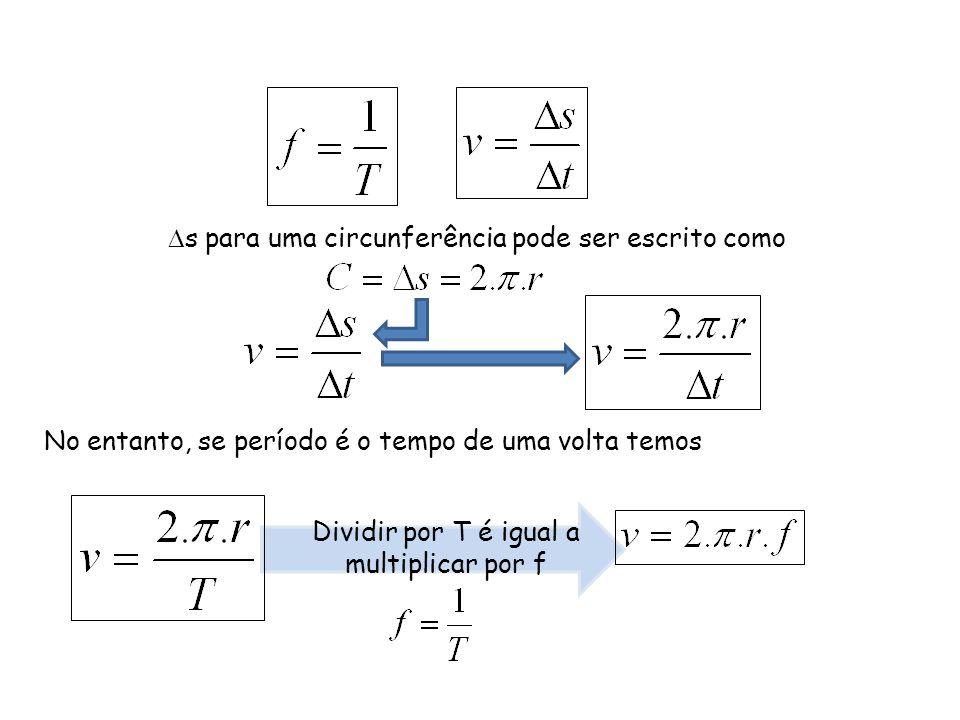 Dividir por T é igual a multiplicar por f
