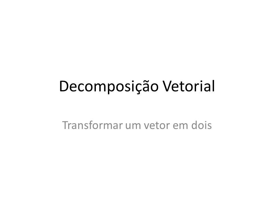 Decomposição Vetorial