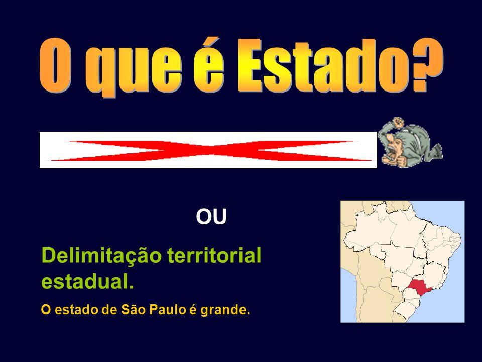 O que é Estado OU Delimitação territorial estadual.