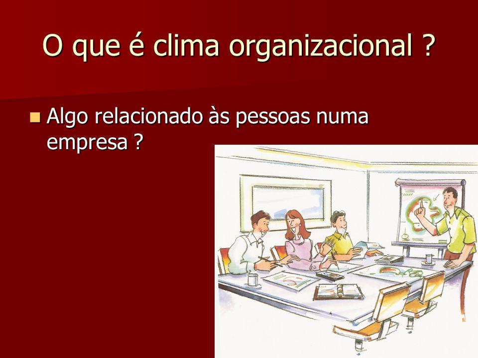 O que é clima organizacional