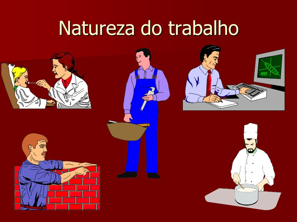 Natureza do trabalho