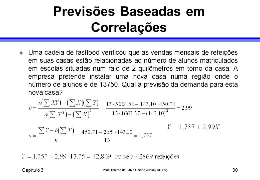 Previsões Baseadas em Correlações