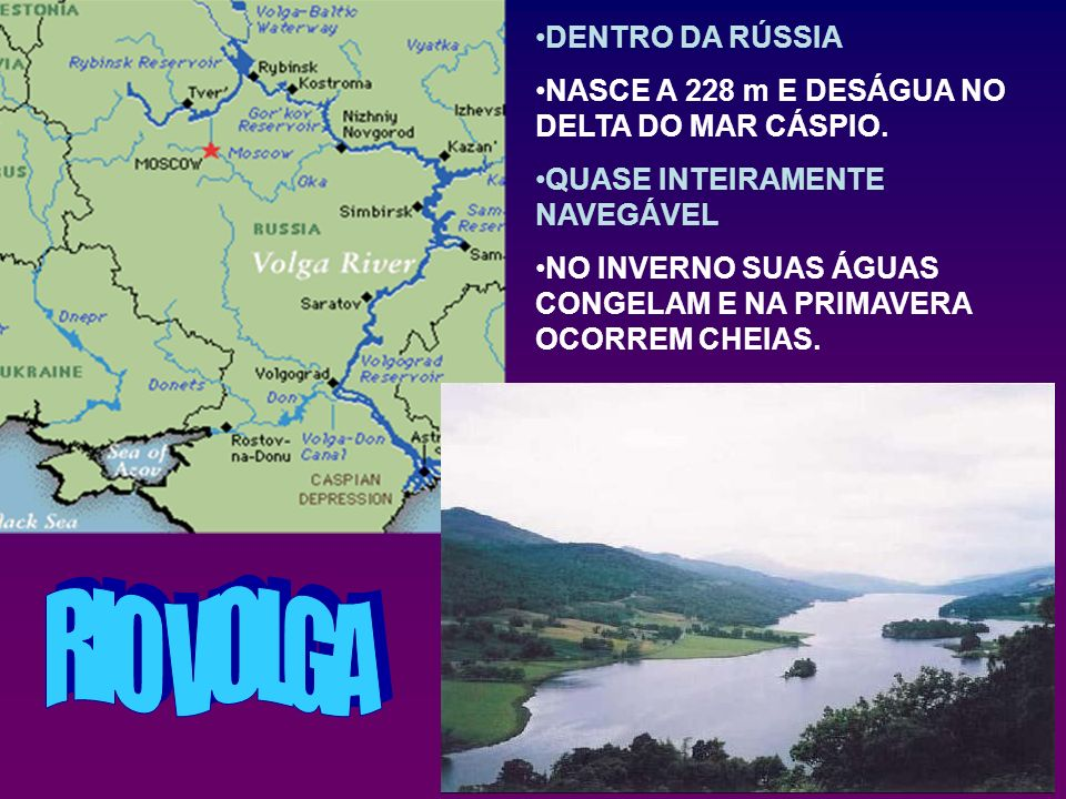 RIO VOLGA DENTRO DA RÚSSIA