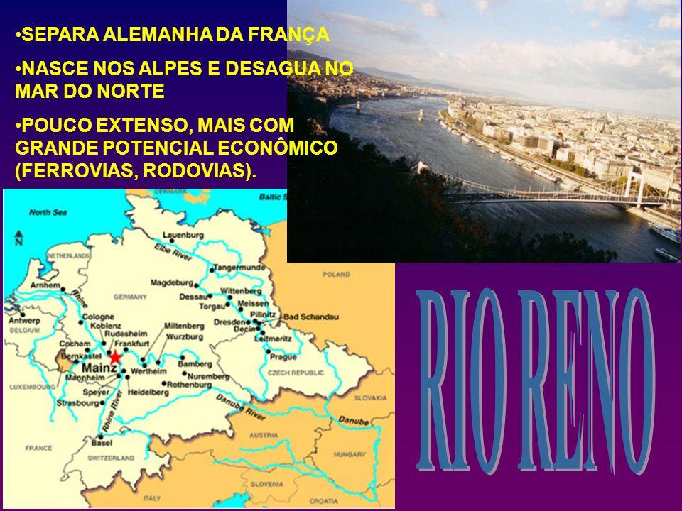 RIO RENO SEPARA ALEMANHA DA FRANÇA