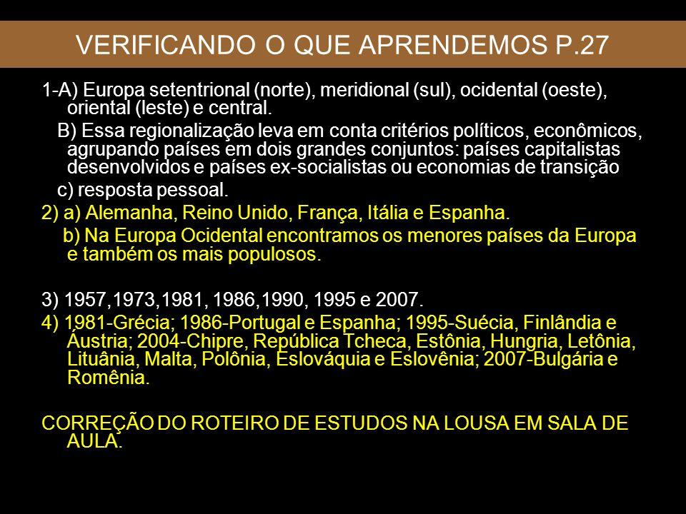 VERIFICANDO O QUE APRENDEMOS P.27