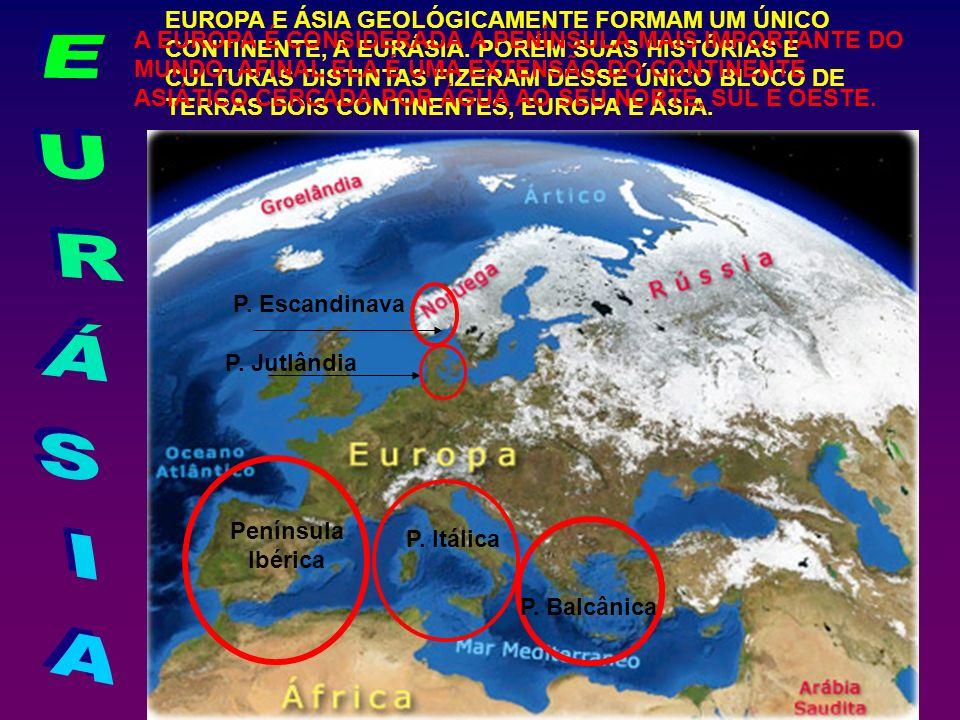 EUROPA E ÁSIA GEOLÓGICAMENTE FORMAM UM ÚNICO CONTINENTE, A EURÁSIA