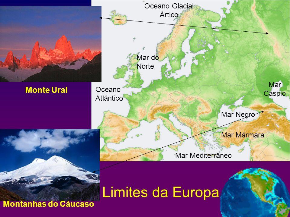 Limites da Europa Monte Ural Montanhas do Cáucaso