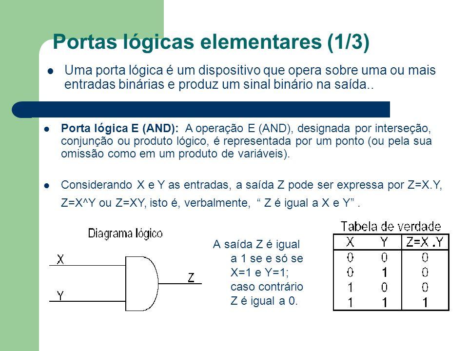 Portas lógicas elementares (1/3)