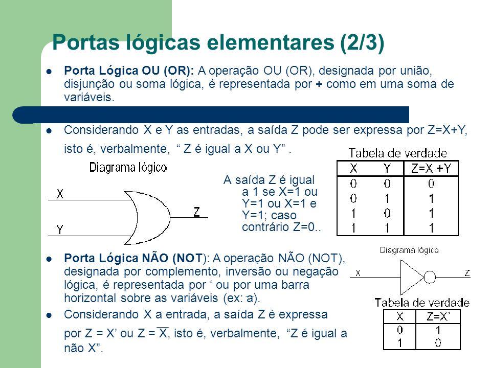 Portas lógicas elementares (2/3)