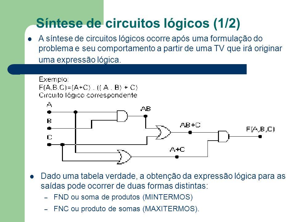 Síntese de circuitos lógicos (1/2)