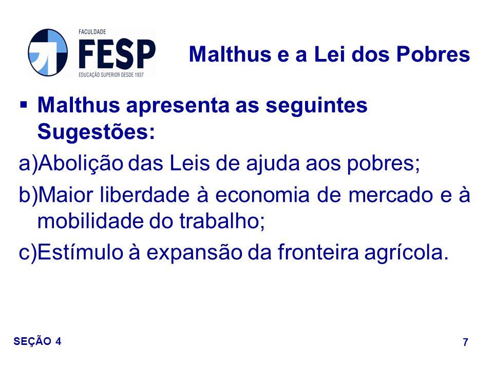 Malthus e a Lei dos Pobres