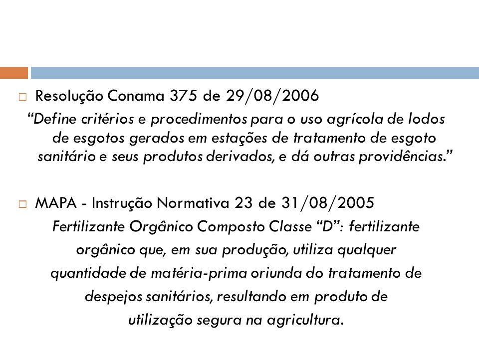 MAPA - Instrução Normativa 23 de 31/08/2005