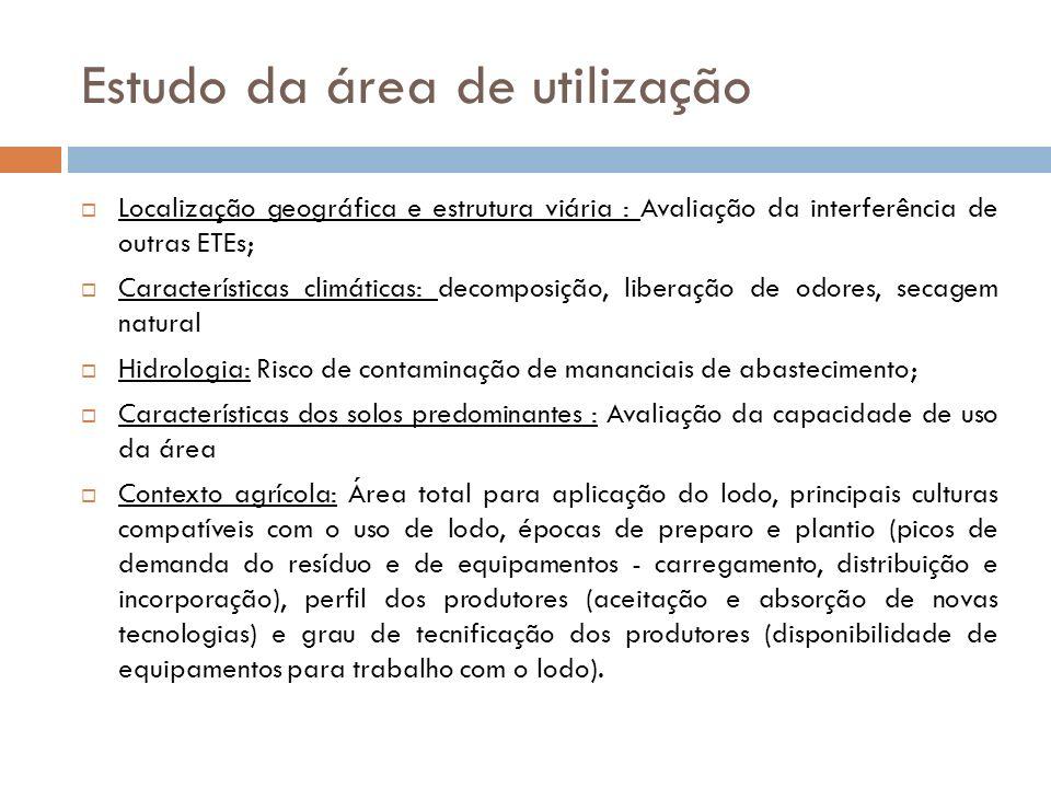 Estudo da área de utilização