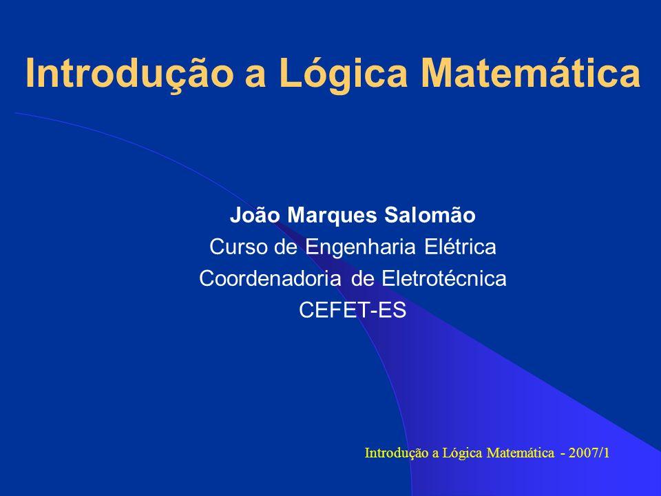 Introdução a Lógica Matemática