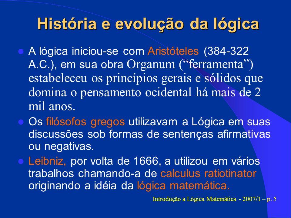 História e evolução da lógica