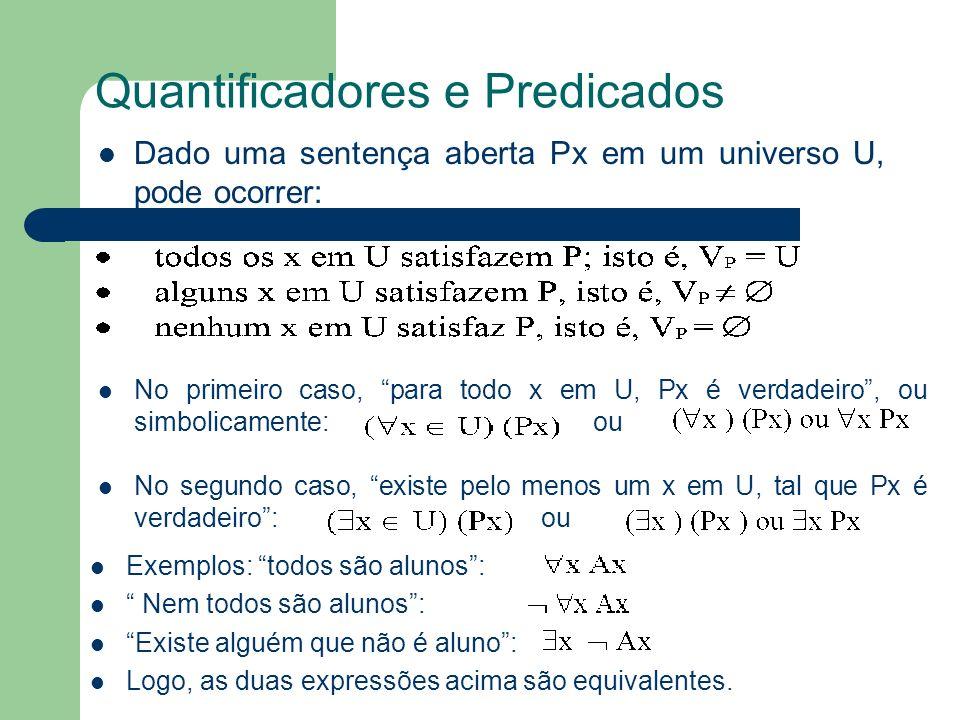 Quantificadores e Predicados