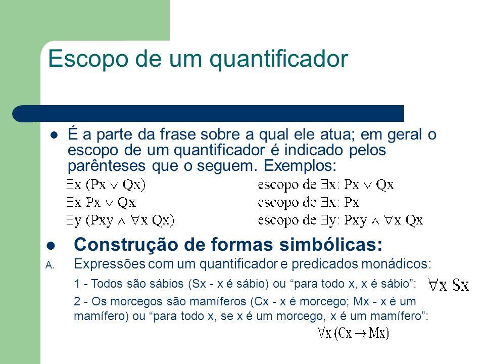 Escopo de um quantificador