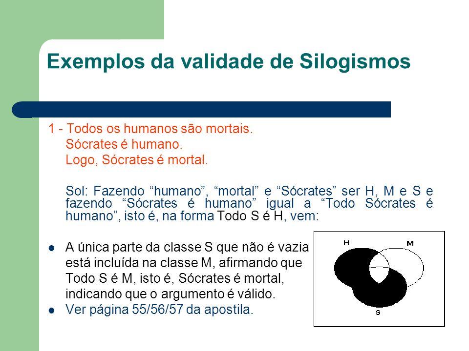 Exemplos da validade de Silogismos