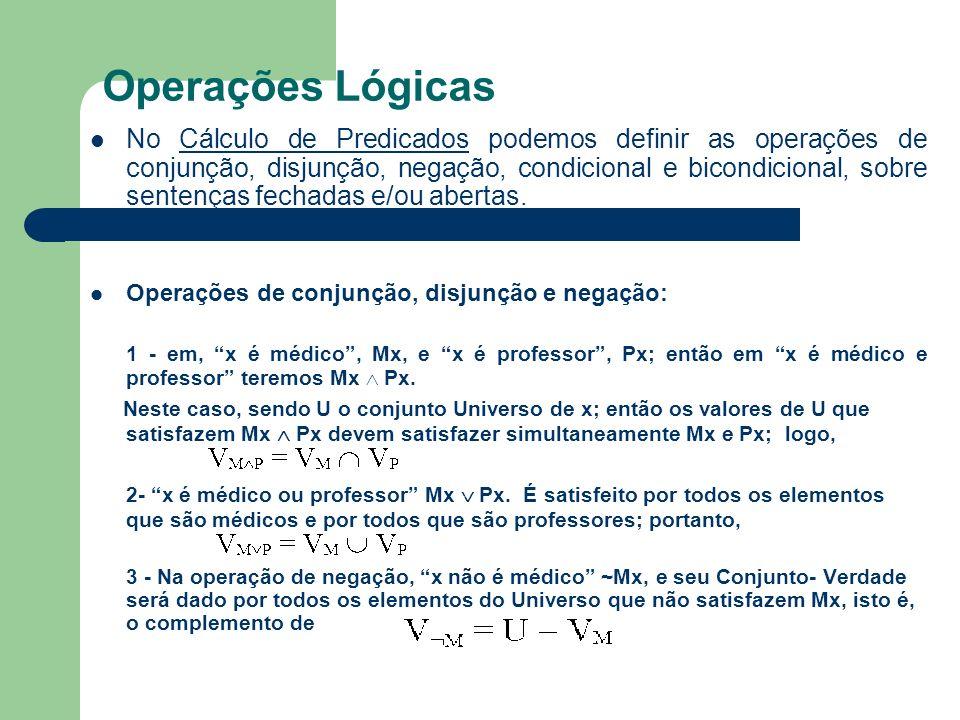 Operações Lógicas
