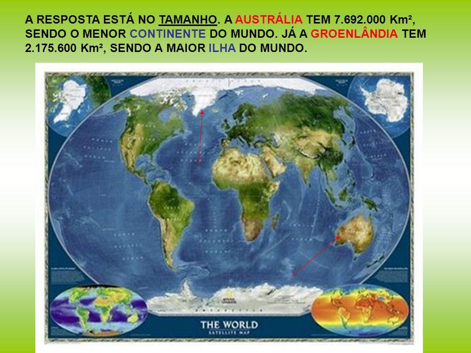 A RESPOSTA ESTÁ NO TAMANHO. A AUSTRÁLIA TEM 7. 692