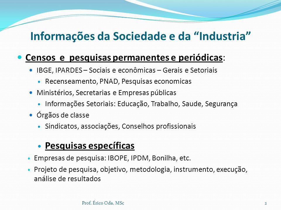 Informações da Sociedade e da Industria