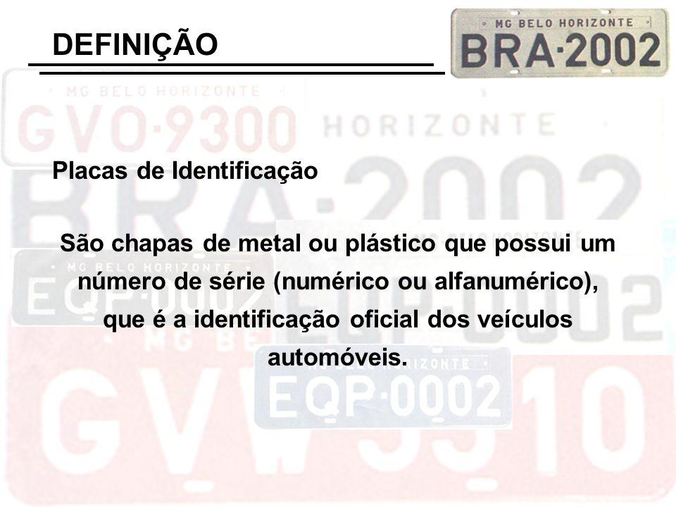 DEFINIÇÃO Placas de Identificação