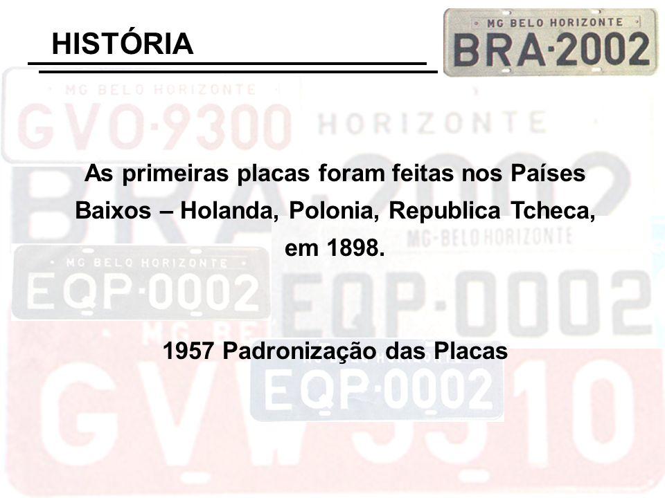 1957 Padronização das Placas