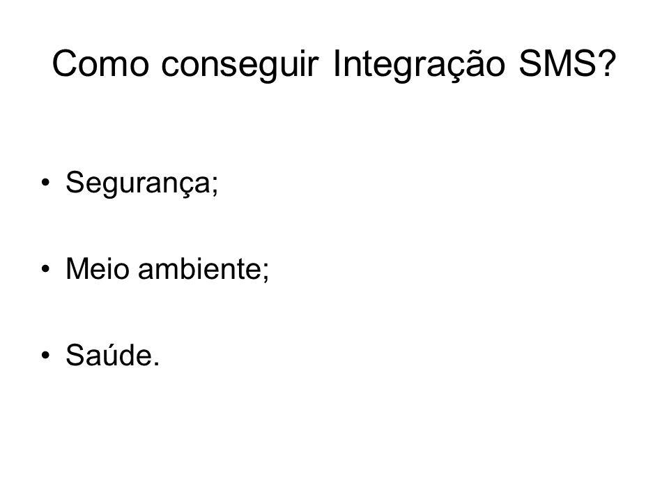 Como conseguir Integração SMS