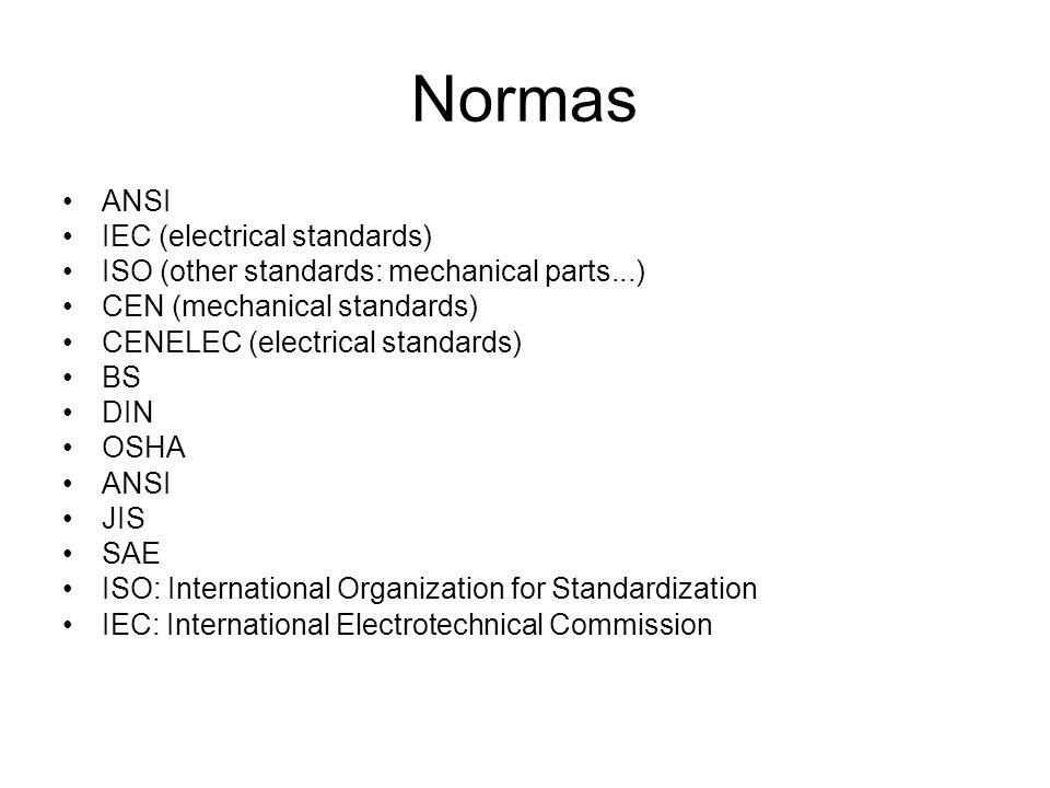 Normas ANSI IEC (electrical standards)